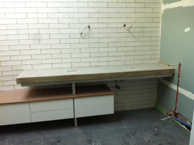 concrete benchtop