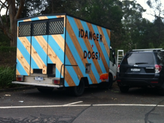 danger dog food truck